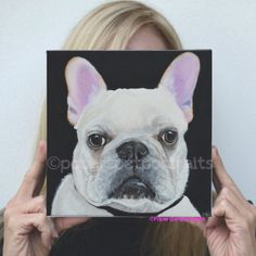 How fun would it b to open your #gift and see one of my #custom #pet #portraits of your #dog #cat #animal #painting