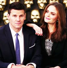 David Boreanaz and Emily Deschanel.