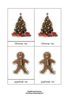 Montessori Three Part Cards - Christmas