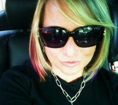 Rainbow Ombre Short Hair I can see this on me with dark hair!!