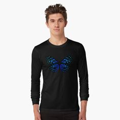 """ Butterfly"" T-shirt by Purple Butterfly, Butterfly Print, Dance Gifts, Tap Dance, Deep Purple, Tshirt Colors, Female Models, Classic T Shirts, Long Sleeve Tees"