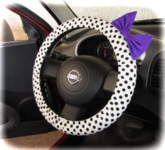 by (CoverWheel) Steering wheel cover for wheel car accessories Polka dot with…