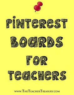 The Teacher Treasury - Pinterest Boards