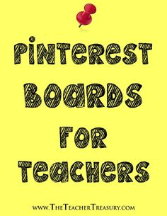 Pinterest Boards for Teachers - Links to other educational Pinterest boards and profiles...