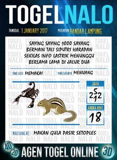 Bolak Balik 3D Togel Wap Online Live Draw 4D TogelNalo Bandar Lampung 1 Januari 2017
