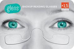 Glens - World's Lightest Back-up Reading Glasses