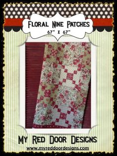 Floral Nine Patch PDF quilt pattern