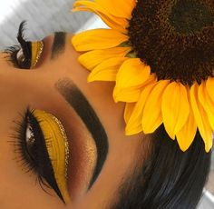 SUNSHINE #makeup #makeupyellow #orange #yellow #sunflower