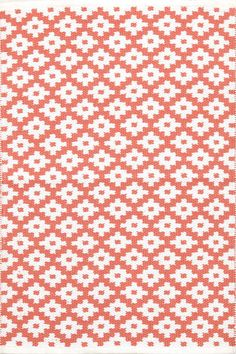 #DashAndAlbert Samode Coral/White Indoor/Outdoor Rug