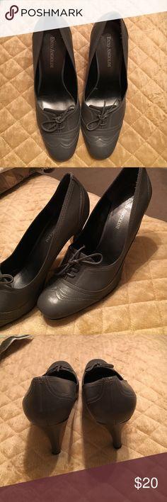 SALE!!  Ladies Retro Style Pumps Pretty Gray Retro Secretary style pumps. Gray size 7.5 M. Great condition. Enzo Angiolini Shoes Heels