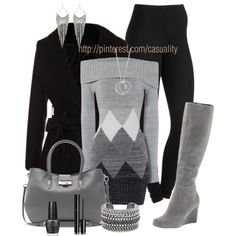 Diamond Pattern Sweater Dress by casuality on Polyvore