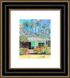 Hawaiian Cottage I Framed Print By Marionette Taboniar
