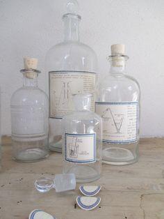 Pharmacy bottles :  Verrerie CHIMIE