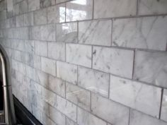 Carerra Marble subway tile