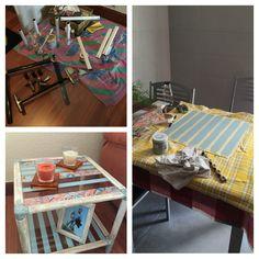 Mesa auxiliar, renovada con Chakl Paint