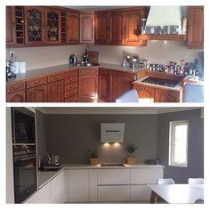 Before and after photos of @karianne_bs's kitchen  #kvik #kitchen #kvikkitchen #makeover