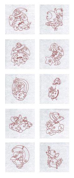 Embroidery Machine Designs - RW Sunbonnet Angels Set