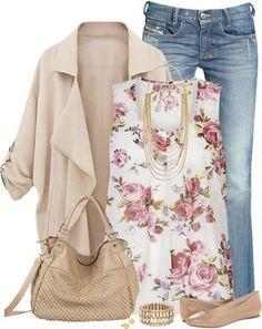 Vestir con un top con Flores - Outfits 2