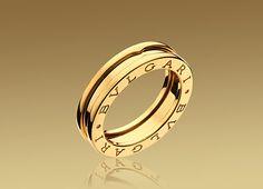 bulgari bzero1 single band ring in 18kt yellow gold