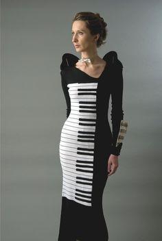 #piano #keys #dress