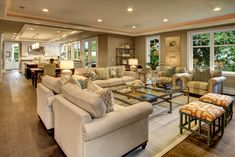 country kitchen open floor plans - Google Search