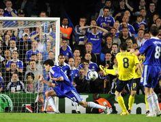 Iniesta, Stamford Bridge, 2 de mayo de 2009, Chelsea, 1- FCBarcelona, 1. Gol de Iniesta.