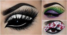 These eye makeup ideas are great if you want to dress up but not put on a whole costume.