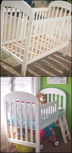 turn an old crib into a toddler bed toddler bed room and babies. Black Bedroom Furniture Sets. Home Design Ideas