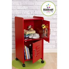 cute locker-room type storage cabinet for our sports theme