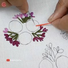 Hand Embroidery Design Patterns, Hand Embroidery Videos, Embroidery Stitches Tutorial, Embroidery Flowers Pattern, Learn Embroidery, Mexican Embroidery, Folk Embroidery, Embroidered Flowers, Diy Bordados