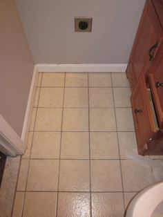 Painted tile floor.. For the master bath maybe?