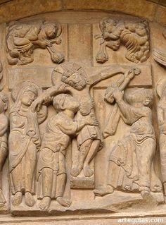 Descendimiento en la Puerta del Perdón de la Real Colegiata de San Isidoro de León