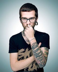#Hipster #Men #Tattoos #Plugs