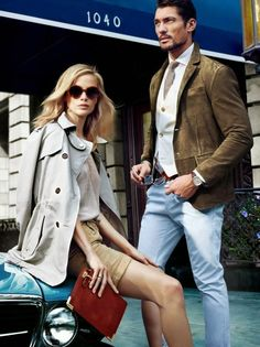 ru_glamour: Carolyn Murphy & David Gandy for Massimo Dutti Spring-Summer 2014