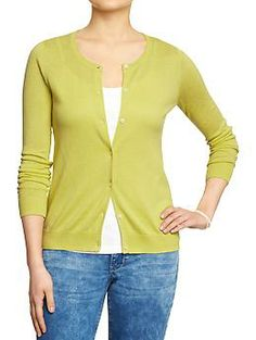 Old Navy women's lightweight cardigan in lime