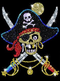 Sequin Art Pin It Pirate Craft Kit   Hobbies