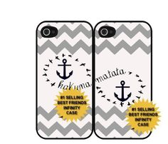 Hakuna Matata Grey Best Friends Infinity Set Of Two (2) iPhone 4/4s Cases:Amazon:Everything Else