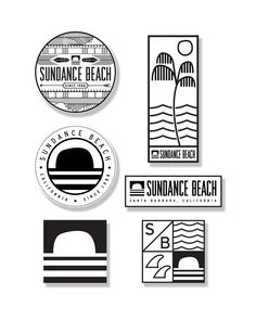 "Each one of these sticker packs comes with 6 of these different designed die-cut stickers. Perfect for you surfboard, skateboard, or whatever board you like! Represent Sundance Beach and Santa Barbara surf culture wherever you go. 2 circle stickers - 3.5"" 2 square stickers - 2.75"" 1 large rectangle sticker - 5.5"" tall 1 small rectangle sticker- 4.25"" wide Free Shipping on Sticker Packs"
