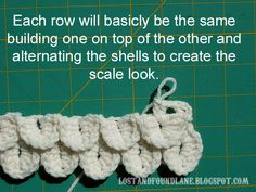 Cool visual tutorial for this pattern. From: Lost and Found Lane: The only Crocodile Stitch resource you will ever need