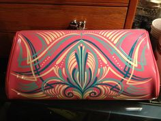 Custom pinstriped PURSE hand painted hot rod rockabilly retro. $79.99, via Etsy.