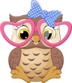 Cow Cartoon Images, Cute Owl Cartoon, Owl Theme Classroom, Baby Animal Drawings, Owl Clip Art, Owl Applique, Little Owl, Cute Elephant, Color Pencil Art