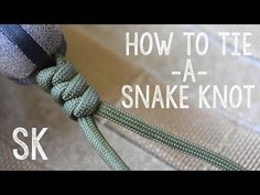 Paracordist how to tie the snake knot and crown knot to finish the paracord Battering Ram lanyard - YouTube