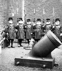Tower Of London Guards - C 1900 Photograph
