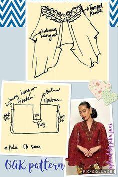Kebaya Lace, Kebaya Brokat, Kebaya Dress, Kaftan Pattern, Jacket Pattern, Dress Sewing Patterns, Blouse Patterns, Kebaya Muslim, Blouse Batik