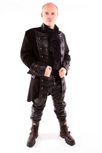 raven-steampunk-coat-mens-gothic-pirate-frock-coat-leather-look-rdl3fblack.jpg (200×300)