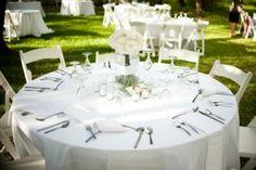 okrągłe stoły na weselu