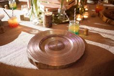 Bronze Glass Charger Plate