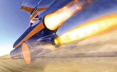 This thing is basically a rocket with a passenger seat. A rocket and a jet engine provide 47,000 pounds of thrust. 3 years in the making: built with the express purpose of shattering the land speed record, the Bloodhound SSC is expected to break 1,000mph later this year. The speed of sound is 768mph, just a bit faster than the current land speed record of 763mph from the Thrust SSC, which was designed by the same Richard Noble-lead team. Our Smash mash tops this, Pun intended.