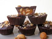 Peanut Caramel Chocolate Cups Recipe - How to Make Peanut Caramel Chocolate Cups