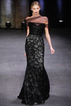 Beautiful mermaid style dress, Gothic black